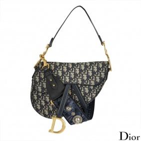 Dior Saddle Monogram bag with Oblique strap 2018 edition